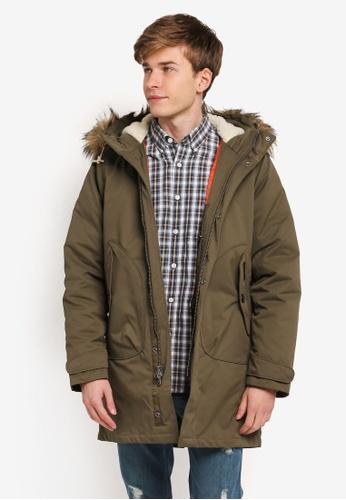 Abercrombie & Fitch green Parka Jacket AB423AA0SJNDMY_1
