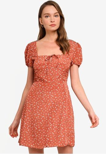 Sável orange Senorita Mini Dress D5754AAAEFEA00GS_1