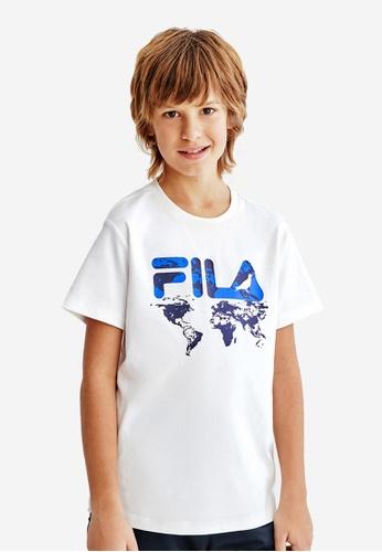 FILA white FILA KIDS FILA x STAPLE Logo Cotton T-shirt 8-15yrs 27E2EKA0246EB0GS_1