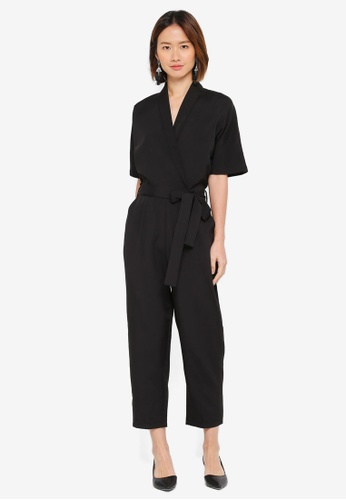 51059dc139e Shop ZALORA Kimono Sleeves Wrap Jumpsuit Online on ZALORA Philippines