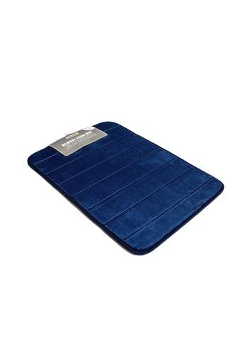 HOUZE blue HOUZE - Memory Foam Mat (Dim: 60x40x1.2cm) Blue color F072DHL3462909GS_1