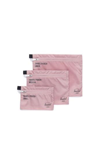 Herschel pink Herschel Unisex Travel Pouches Ash Rose 21468AC4678068GS_1