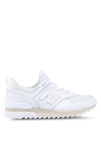 New Balance white 574 Lifestyle Shoes 3C748SH624BDE4GS_1