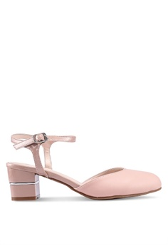b4681e2ad42 DMK pink Block Heel Rounded Pumps D916CSH3A6C792GS 1