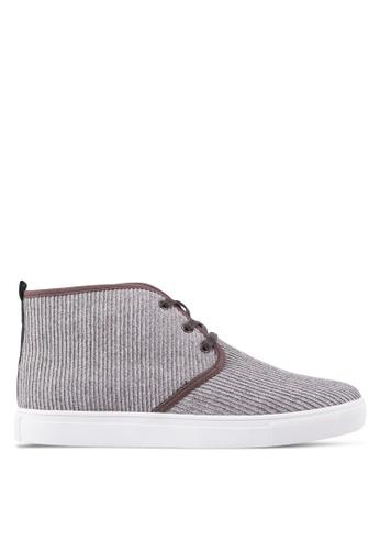 JAXON brown Fabric High Top Sneakers EA692SH73CD2F9GS_1