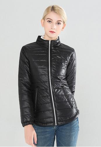 London Rag black Puffer Jacket With Zipper Closure 00954AAF3C6B7BGS_1