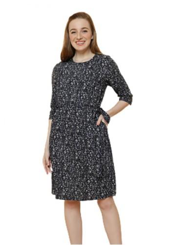 Gina Alana black and grey Gina Alana Grey Blossom Dress D3ED3AA9D64596GS_1