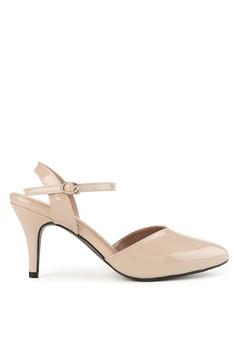 Shoecrime beige Jocelyn Ankle Strap Kitten Heels 02830SHC507904GS_1