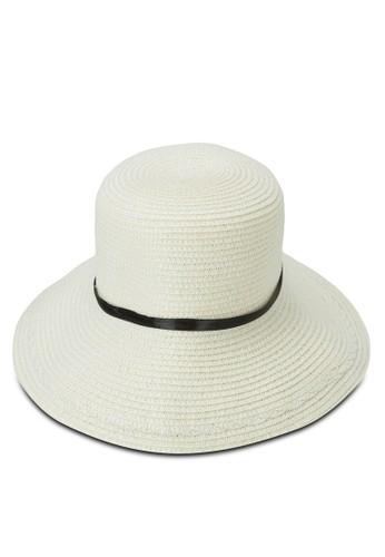 飾帶編織草帽, 飾品配esprit 香港件, 爵士帽