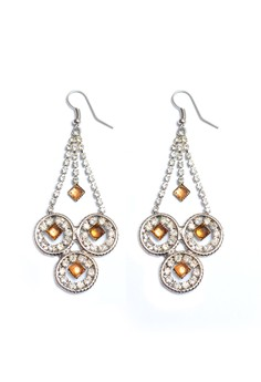 Clique Forever Fashion Night Glam Topaz Chandelier Earrings