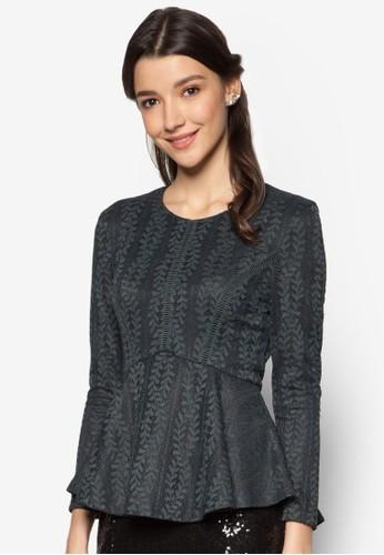 Lace Pieced Pesprit高雄門市eplum Top, 服飾, 上衣