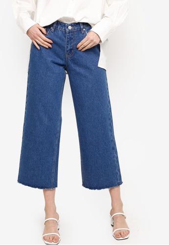 ZALIA BASICS 藍色 Denim Culottes 9768CAA9976A49GS_1