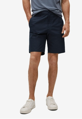 MANGO Man blue Cotton Chino Style Bermuda Shorts B0412AAE485C11GS_1
