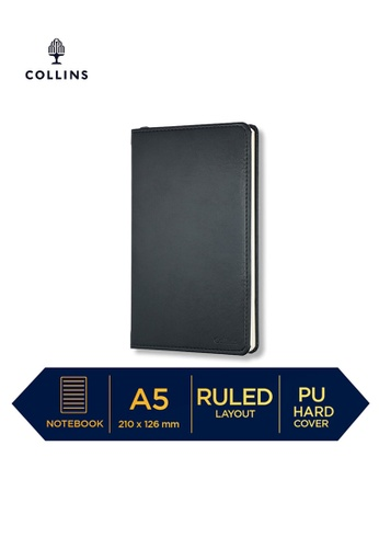 Collins black Collins William - Notebook A5 Slim Ruled Black 4A9C5HL4BE0AAEGS_1