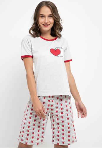 Puppy grey Pyjama Pijama Short Sleeve Short Pants Sleepwear 90B01AAC84F57AGS_1