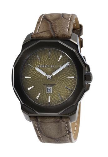 PERRY ELLIS brown Perry Ellis Decagon Unisex 42mm Quartz Watch 08008-01 656EBAC7383223GS_1