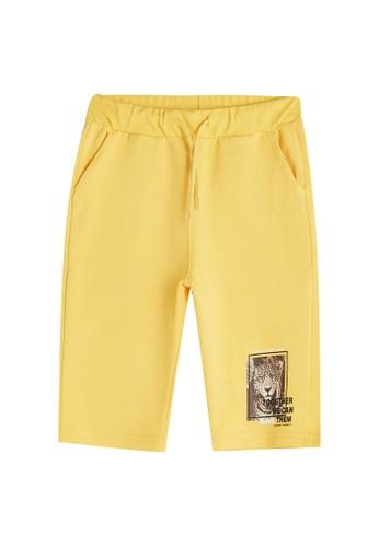 LC Waikiki yellow Printed Elastic Waist Roller Shorts 5C9A9KA009B41DGS_1