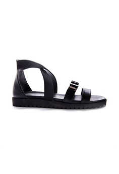 ce4fb85519882f Yoke   Theam black Jules Sandal FBC4BSH3371EF4GS 1