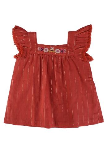 DU PAREIL AU MÊME (DPAM) brown Teracotta Sleeveless Dress 6E18EKAF34DCE3GS_1