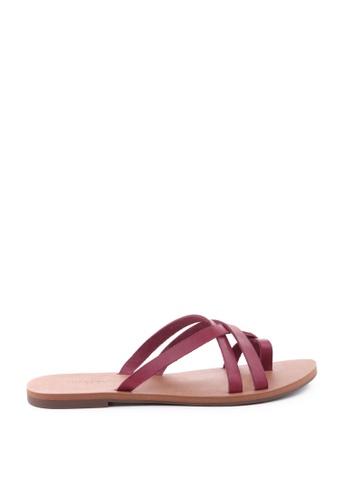 Anacapri 紅色 Slim Flat Sandals 94D68SH3AF8A9BGS_1