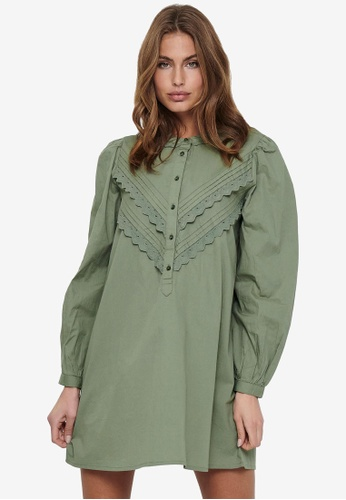 JACQUELINE DE YONG green Mumbai Life Long Sleeve Dress AE1DEAABF68394GS_1