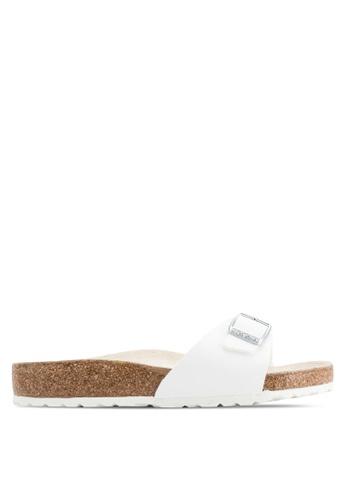 Birkenstock white Madrid Birko-Flor Sandals BI090SH37CSCMY_1