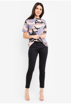 ef664232ad3844 33% OFF MISSGUIDED All Over Camo T-Shirt S  39.90 NOW S  26.90 Sizes 8 12
