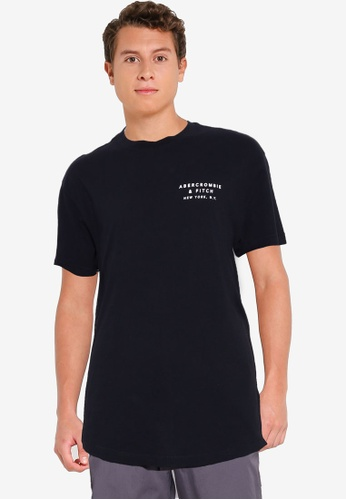 Abercrombie & Fitch black Emea Curved Hem Tee 86B8EAA2D1CFB1GS_1