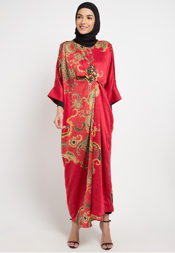 LUIRE by Raden Sirait red and multi Oktafia 50277AAB525E1EGS_1