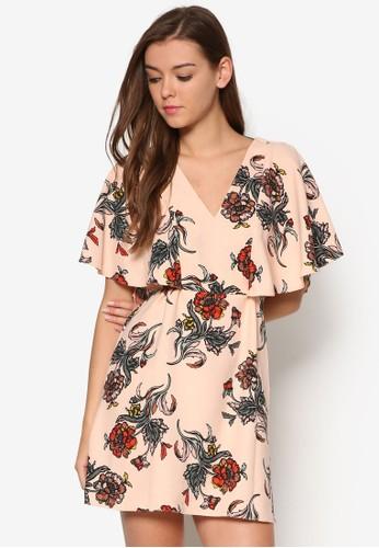 Carly 蓋袖鏤空腰帶洋裝, 服esprit暢貨中心飾, 洋裝