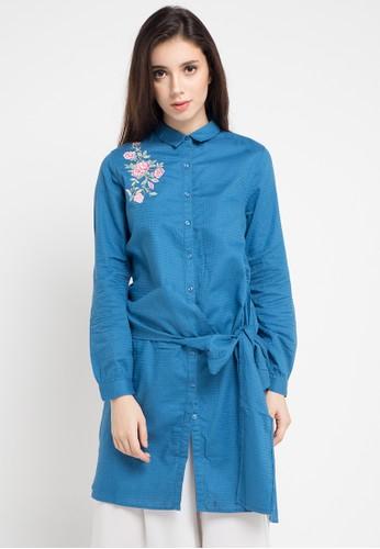 Cardinal blue and multi Cardinal Girl Tunik EAB20AA875D792GS_1