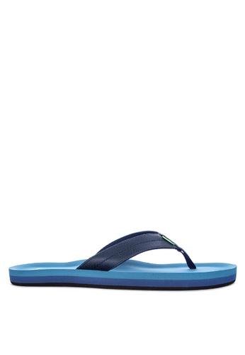 Sanuk blue Burm Flip Flops AF28CSHA4DB5F5GS_1