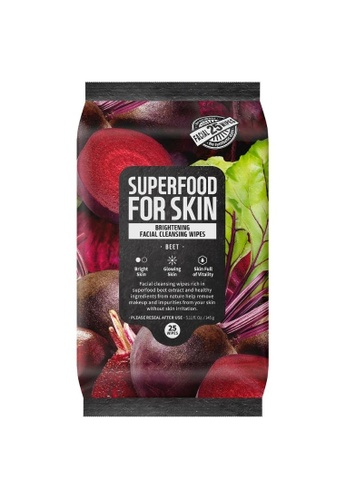 FARMSKIN Farmskin Cleansing Wipes (Beet) (25 sheet) Superfood For Skin Brightening Cleansing Wipes 63E77BEDC795D7GS_1