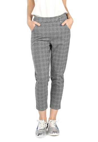 London Rag grey Grey Checked Trousers 7F1B3AAE090329GS_1