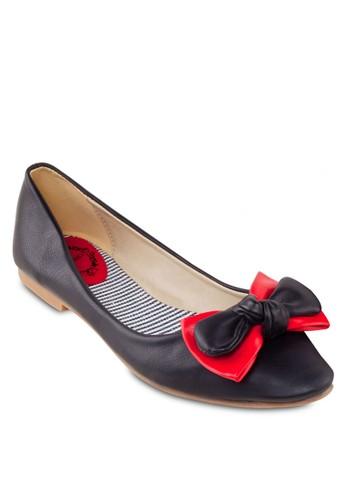雙蝴蝶結平底鞋, 女zalora 包包 ptt鞋, 芭蕾平底鞋