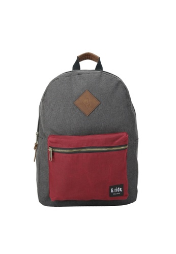 G.ride grey and red Blanche Backpack B2AE2AC24B127AGS_1