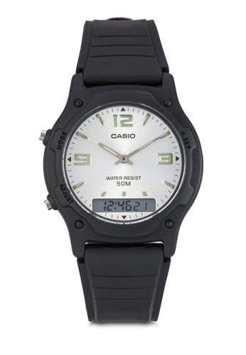 Casio black Casio Jam Tangan AW-49HE-7AVDF Hitam 40FDAACDB83C61GS_1