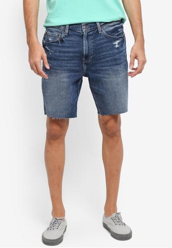 Hollister blue Denim Skinny Clean Shorts 54104AA503DC25GS_1