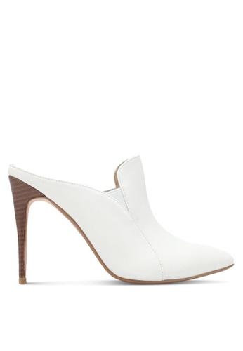 ZALORA white Double Pu Slip On Heels 9A547SHE179A3FGS_1