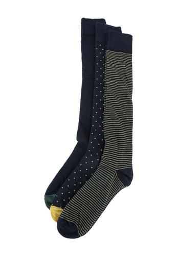 OVS blue 3-Pair Long Socks B0141AA81BF0D8GS_1