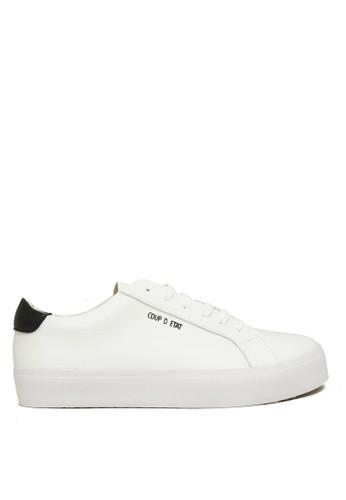 CDE white CDE Ceremonial Men Sneaker White/Black (Sepatu Sneakers Pria Putih dengan aksen Hitam) 799ACSHDF30678GS_1