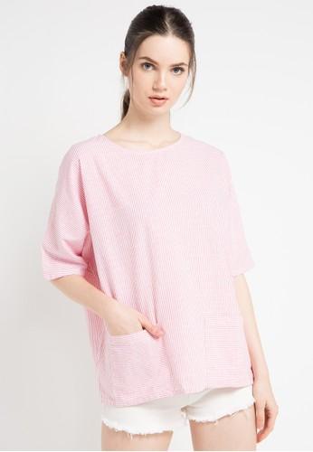 Logo Jeans pink Seth Shirt 16896AA3BE45D5GS_1