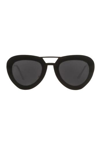 Quattrocento Eyewear Quattrocento Eyewear Mod. Rustier with Stainless Steel Frame and CR 39 Black Black Lenses 40D27GL6DBDBA5GS_1