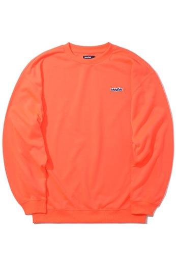 BLOCKAIT orange Logo patch sweatshirt 363A9AA1F2A81EGS_1
