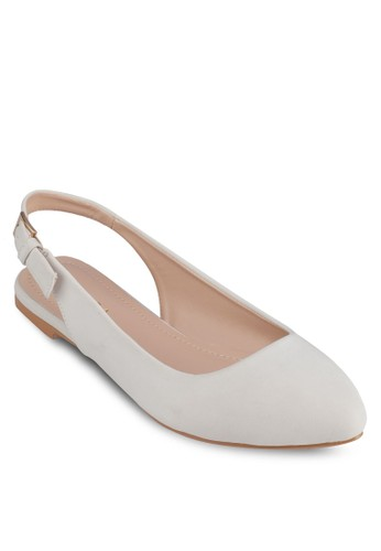 尖頭繞畫平底zalora 手錶鞋, 女鞋, 芭蕾平底鞋