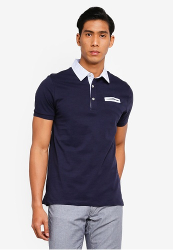 OVS 海軍藍色 條紋POLO衫 6DAFEAA2D0F7EAGS_1