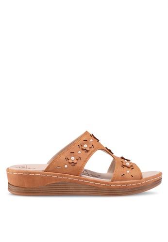 Noveni 褐色 休閒楔型鞋 B8B89SHD446978GS_1
