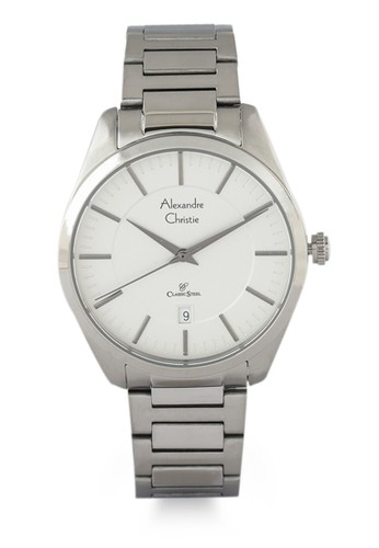 Alexandre Christie silver Alexandre Christie Jam Tangan Pria - Silver White - Stainless Steel - 8579 MDBSSSL F355FAC4E19BE8GS_1