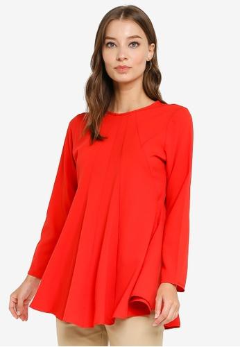 Aqeela Muslimah Wear red Princess Blouse DAFEEAA2354C1CGS_1