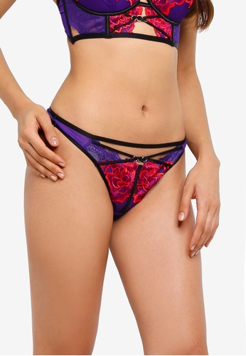 Ann Summers purple Azealia Thong 04987US4129D84GS_1